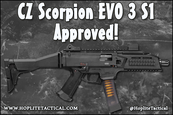 After long waiting, the CZ Scorpion EVO 3 is approved!
