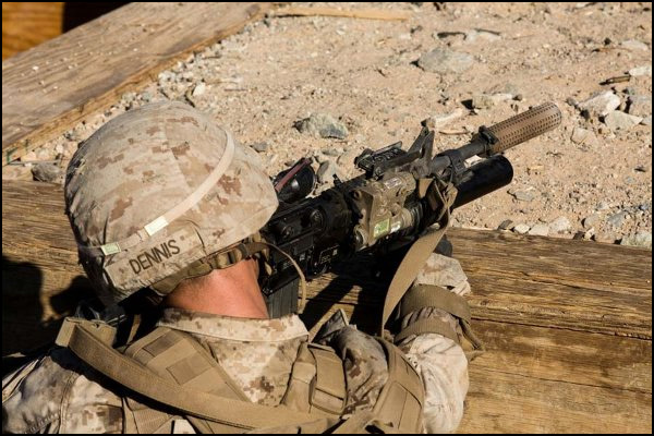 Marines are testing out a unit with all weapons that are suppressed.
