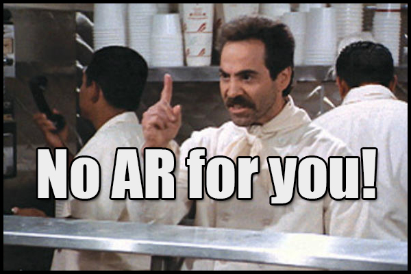 Waited too long to buy your AR? No AR for you!