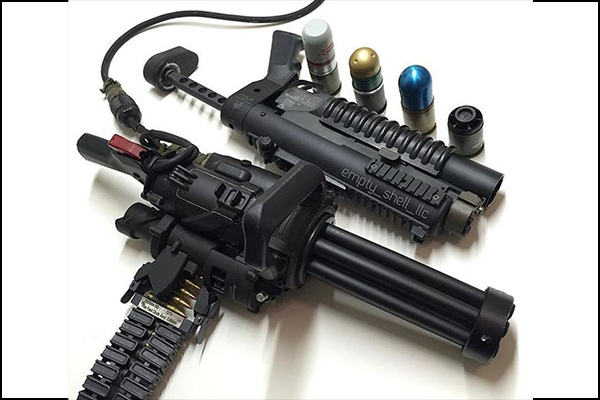 The XM556 Microgun, a minigun that will end up on your wish list.