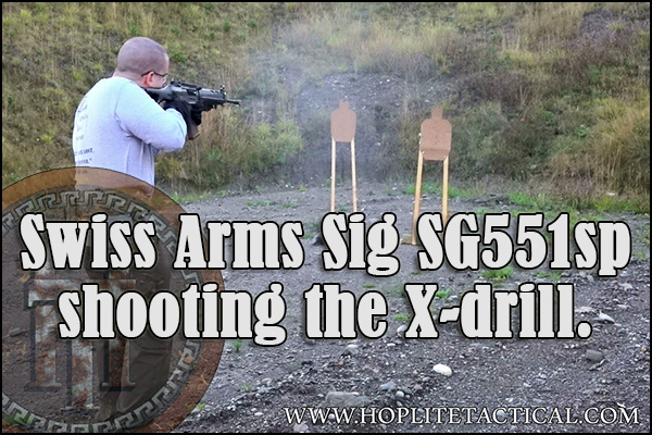 We shoot the X-Drill with the SIg SG 551sp.