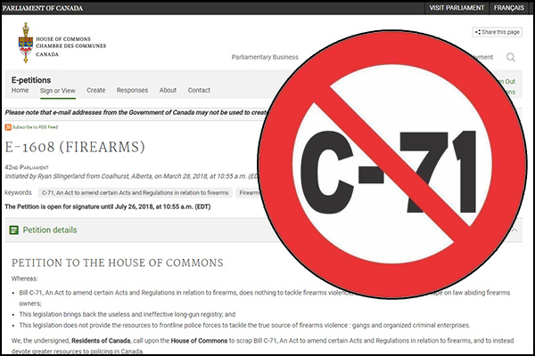 Sign the Petition against Bill C-71.