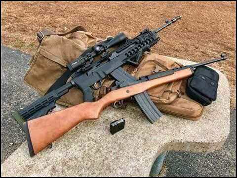 Both firearms are the same model of Mini 14. Only one would be banned based off an interchangeable stock.