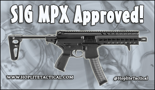 SIG Sauer MPX approved for Canadian Civilian ownership.