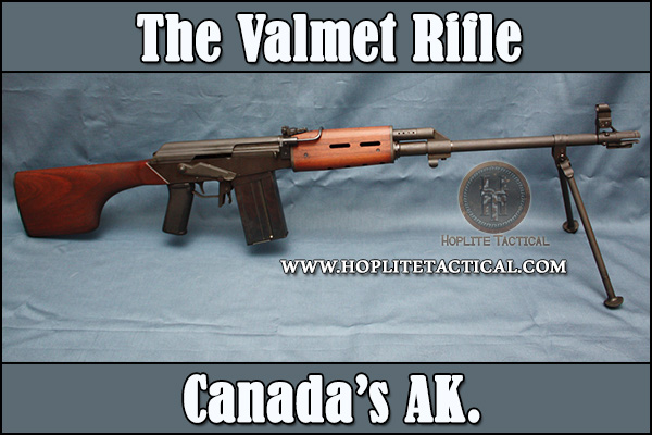 The Valmet AK-47 is non-restricted in Canada. Valmet M78 in .308 win pictured.